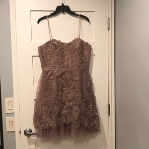 Adrianna Papell beautiful blush dress! NEVER WORN!